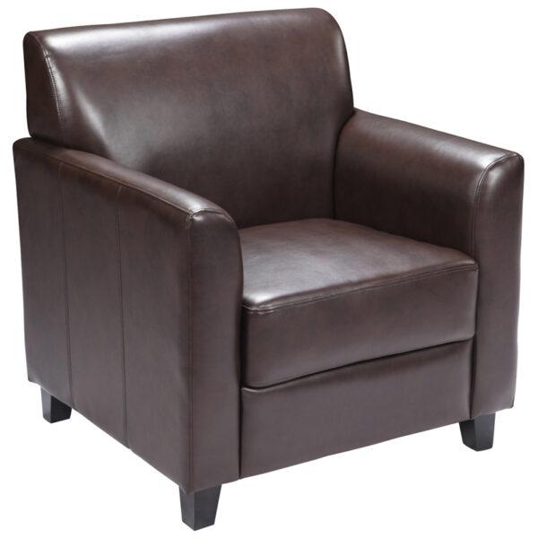 Wholesale HERCULES Diplomat Series Brown Leather Chair