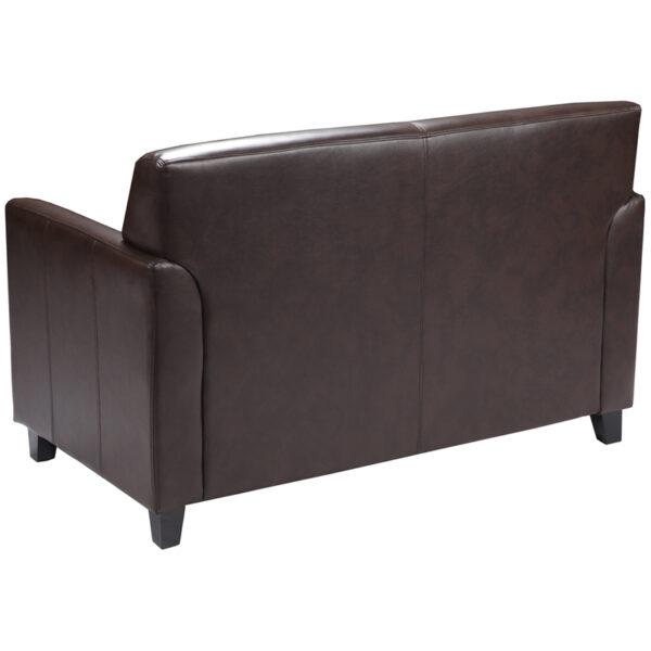 Lowest Price HERCULES Diplomat Series Brown Leather Loveseat
