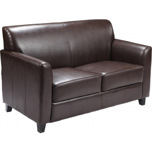 Wholesale HERCULES Diplomat Series Brown Leather Loveseat