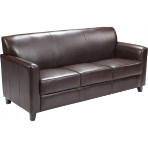 Wholesale HERCULES Diplomat Series Brown Leather Sofa