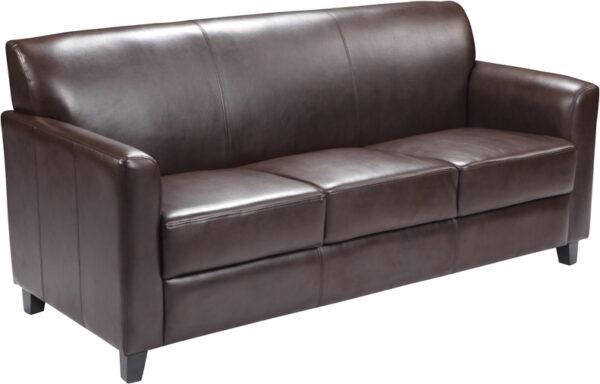 Wholesale HERCULES Diplomat Series Brown Leather Sofa