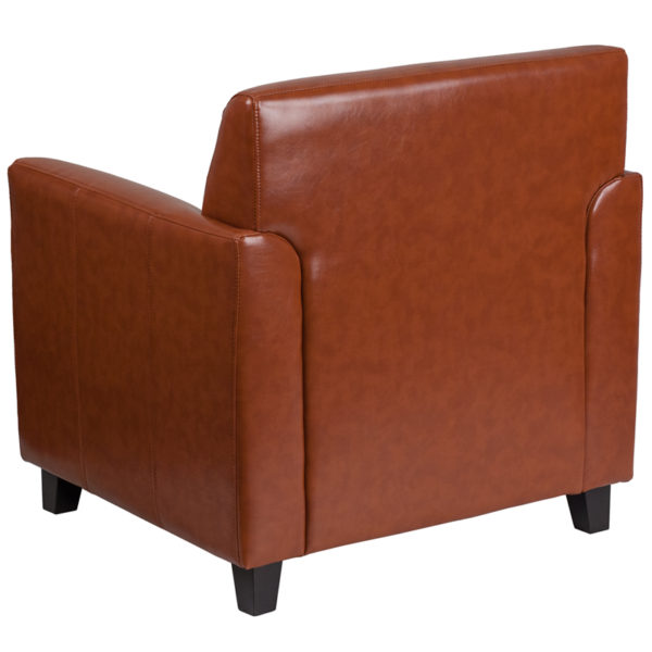 Contemporary Style Cognac Leather Chair