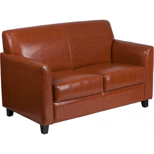 Wholesale HERCULES Diplomat Series Cognac Leather Loveseat