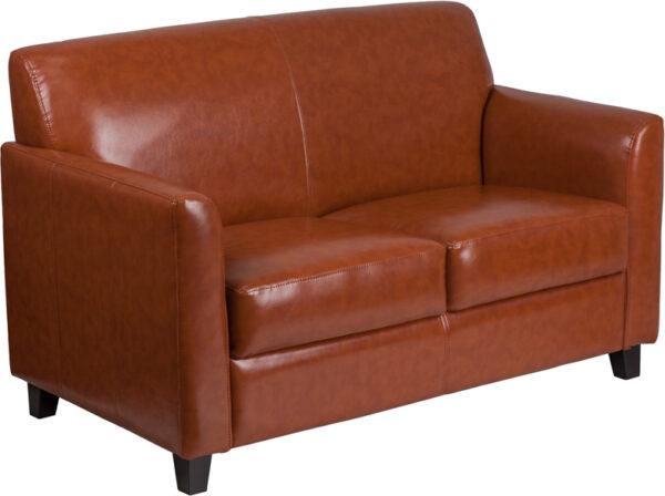 Wholesale HERCULES Diplomat Series Cognac Leather Loveseat