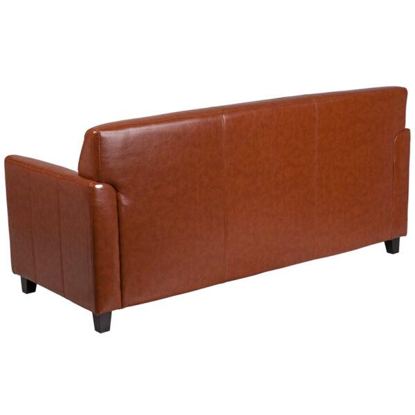Lowest Price HERCULES Diplomat Series Cognac Leather Sofa