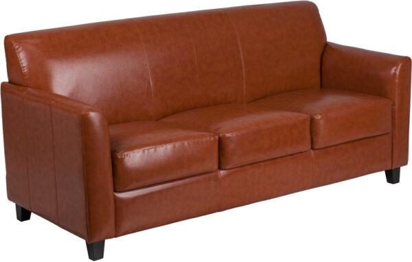 Wholesale HERCULES Diplomat Series Cognac Leather Sofa