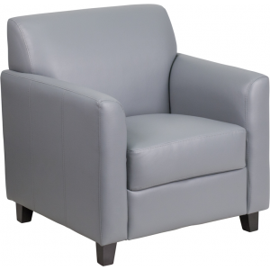 Wholesale HERCULES Diplomat Series Gray Leather Chair