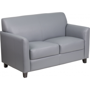 Wholesale HERCULES Diplomat Series Gray Leather Loveseat
