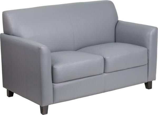 Wholesale HERCULES Diplomat Series Gray Leather Loveseat