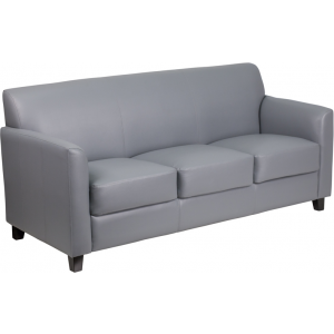 Wholesale HERCULES Diplomat Series Gray Leather Sofa