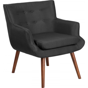 Wholesale HERCULES Hayes Series Black Fabric Tufted Arm Chair