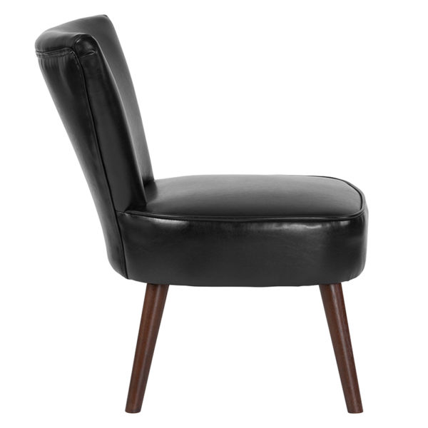 Lowest Price HERCULES Holloway Series Black Leather Retro Chair