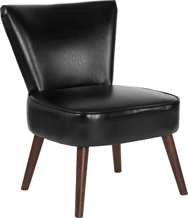 Wholesale HERCULES Holloway Series Black Leather Retro Chair
