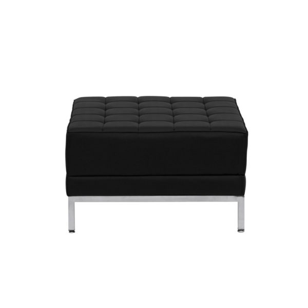 Lowest Price HERCULES Imagination Series Black Leather Ottoman