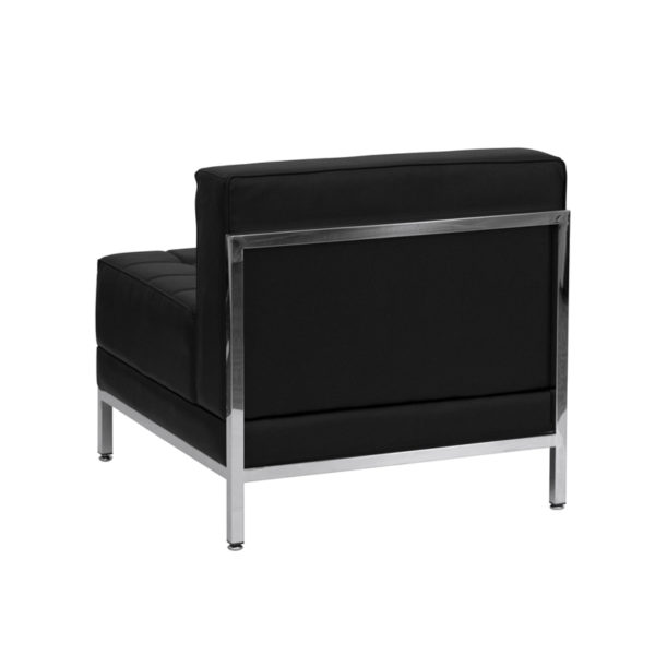 Lowest Price HERCULES Imagination Series Contemporary Black Leather Middle Chair