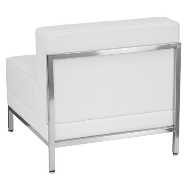 Lowest Price HERCULES Imagination Series Contemporary Melrose White Leather Middle Chair
