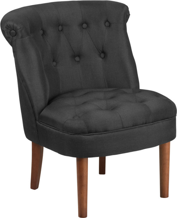 Wholesale HERCULES Kenley Series Black Fabric Tufted Chair