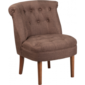 Wholesale HERCULES Kenley Series Brown Fabric Tufted Chair
