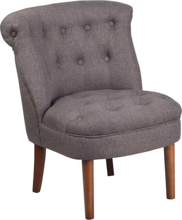 Wholesale HERCULES Kenley Series Gray Fabric Tufted Chair