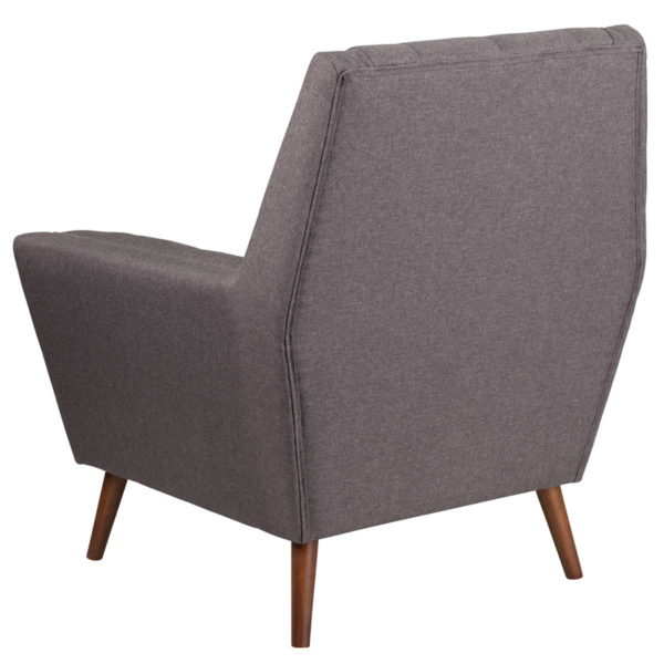 Contemporary Style Gray Fabric Arm Chair
