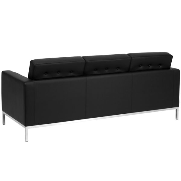 Contemporary Style Black Leather Sofa