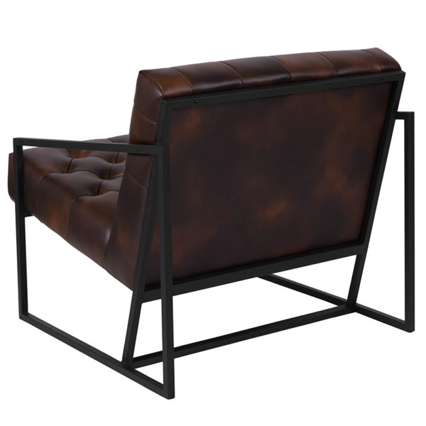 Transitional Style Bomber Jacket Leather Chair