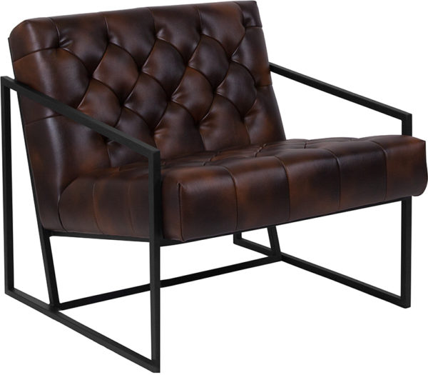 Wholesale HERCULES Madison Series Bomber Jacket Leather Tufted Lounge Chair