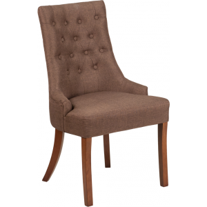 Wholesale HERCULES Paddington Series Brown Fabric Tufted Chair