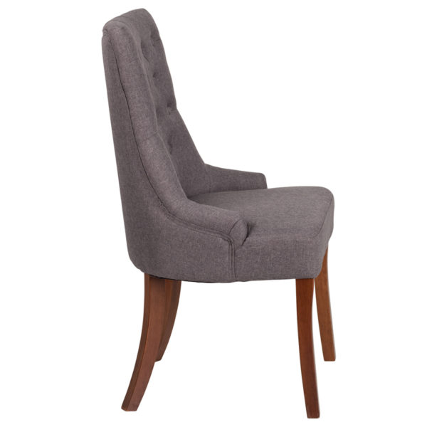 Lowest Price HERCULES Paddington Series Gray Fabric Tufted Chair