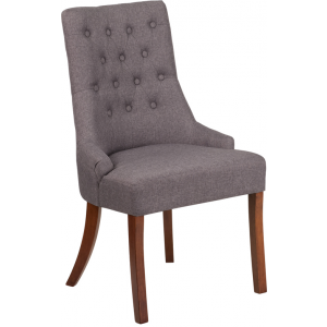 Wholesale HERCULES Paddington Series Gray Fabric Tufted Chair