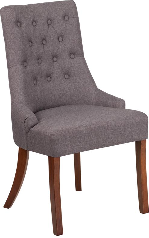 Wholesale HERCULES Paddington Series Gray Fabric Tufted Chair