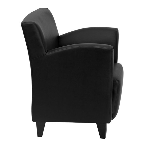 Lowest Price HERCULES Roman Series Black Leather Lounge Chair