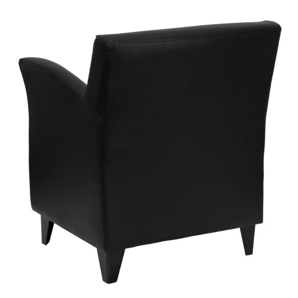 Lounge Chair Black Leather Guest Chair
