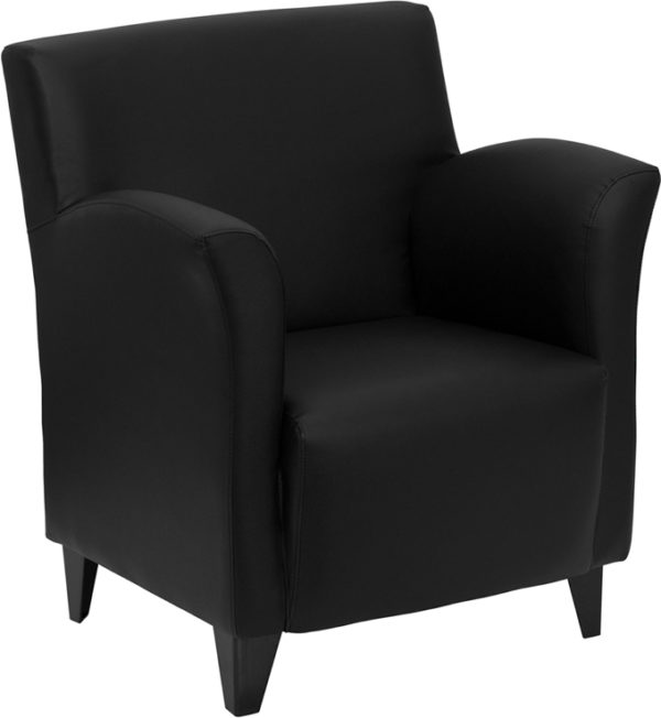 Wholesale HERCULES Roman Series Black Leather Lounge Chair