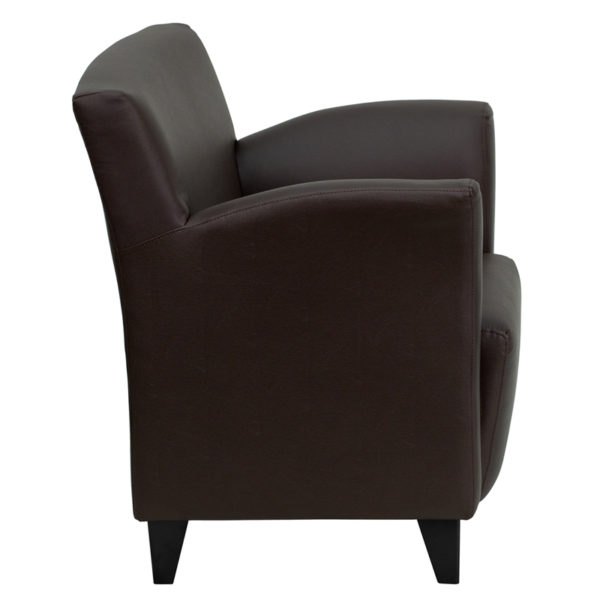 Lowest Price HERCULES Roman Series Brown Leather Lounge Chair