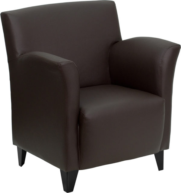 Wholesale HERCULES Roman Series Brown Leather Lounge Chair