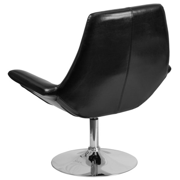 Lounge Chair Black Leather Reception Chair