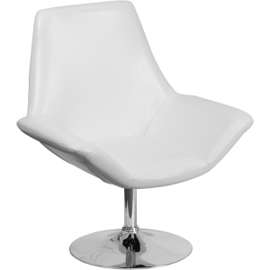 Wholesale HERCULES Sabrina Series White Leather Side Reception Chair