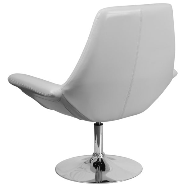 Lounge Chair White Leather Reception Chair