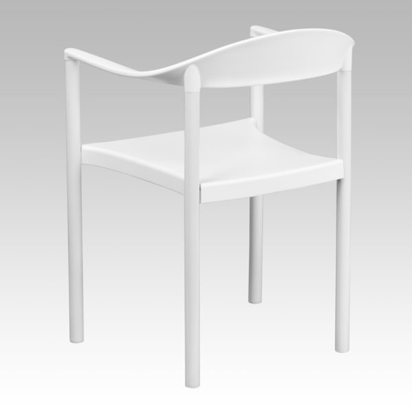 Multipurpose Stack Chair White Plastic Stack Cafe Chair