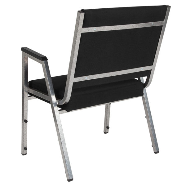 Multipurpose Stack Chair Black Fabric Bariatric Chair