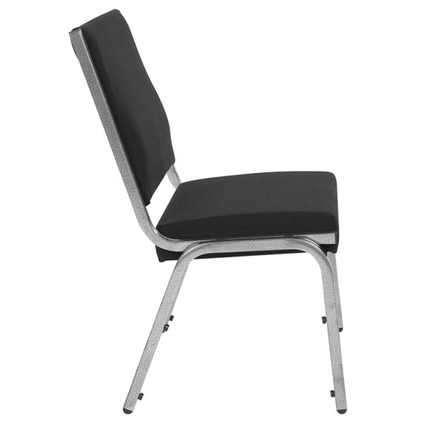 Lowest Price HERCULES Series 1500 lb. Rated Black Antimicrobial Fabric Bariatric Medical Reception Chair