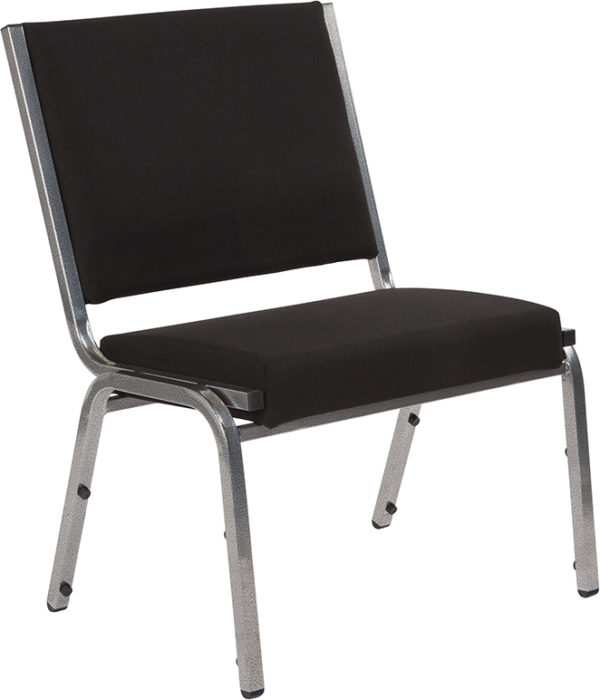 Wholesale HERCULES Series 1500 lb. Rated Black Antimicrobial Fabric Bariatric Medical Reception Chair