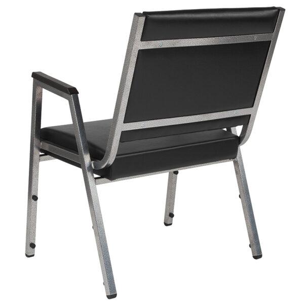 Multipurpose Stack Chair Black Vinyl Bariatric Armchair