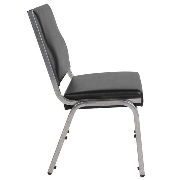 Lowest Price HERCULES Series 1500 lb. Rated Black Antimicrobial Vinyl Bariatric Medical Reception Chair