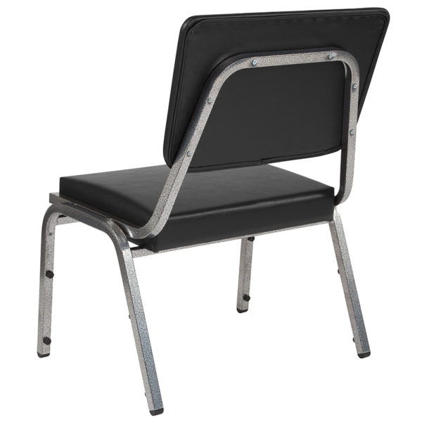 Multipurpose Stack Chair Black Vinyl Bariatric Chair