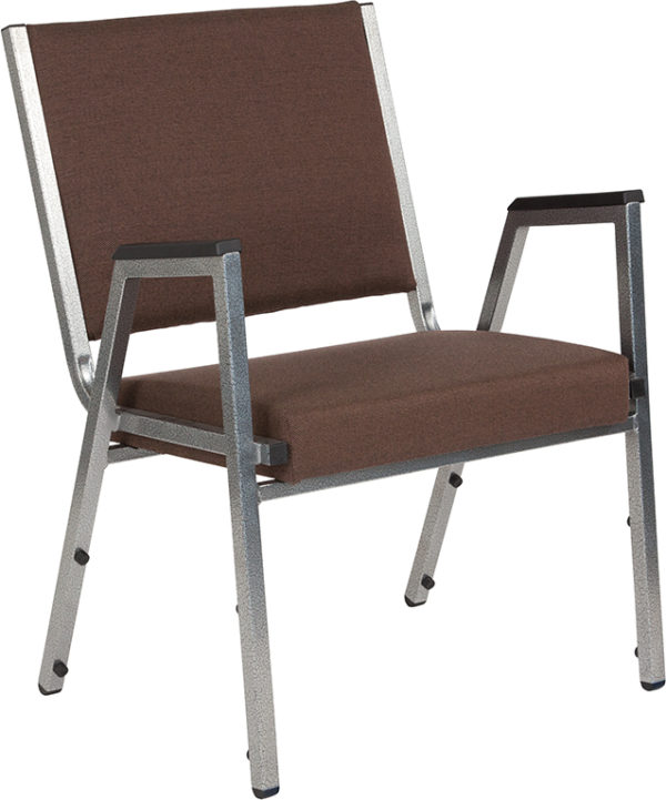 Wholesale HERCULES Series 1500 lb. Rated Brown Antimicrobial Fabric Bariatric Medical Reception Arm Chair