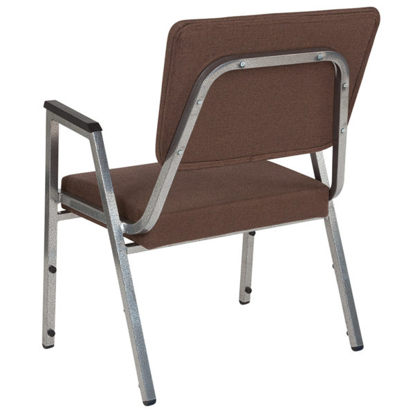 Multipurpose Stack Chair Brown Fabric Bariatric Chair