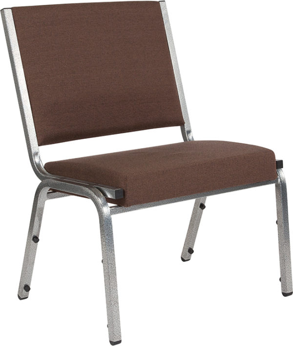 Wholesale HERCULES Series 1500 lb. Rated Brown Antimicrobial Fabric Bariatric Medical Reception Chair
