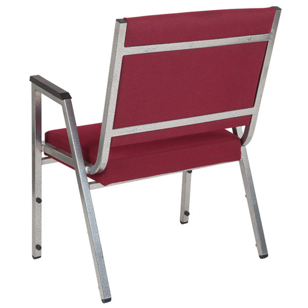 Multipurpose Stack Chair Burgundy Bariatric Armchair